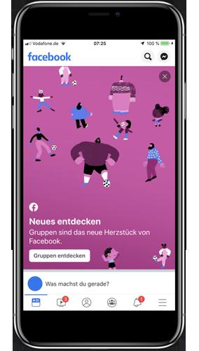 Smartphone mit Facebook App